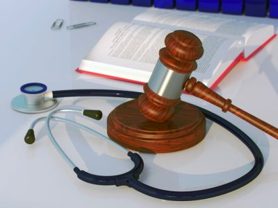 Stethoscope and Gavel, Medical Law Concept