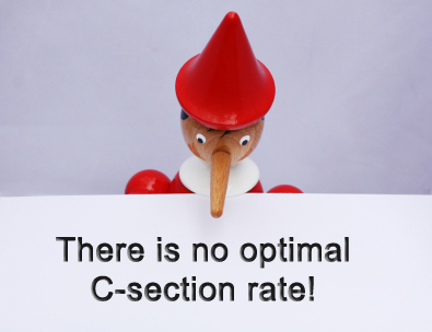 No optimal C-section rate