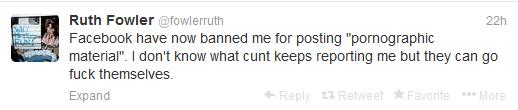 Ruth Fowler tweet