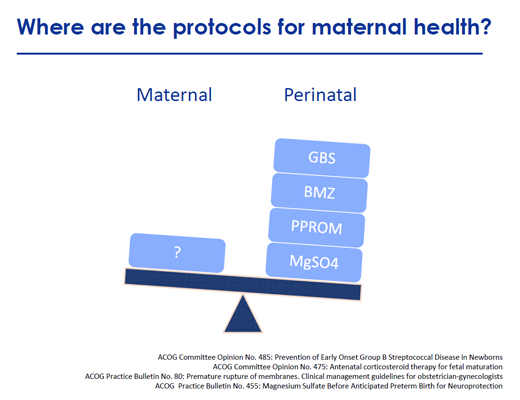 Protocols for maternal health small