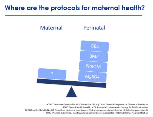 Protocols for maternal health small