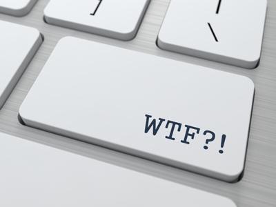 WTF. Internet Concept.