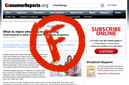 Consumer Reports fail