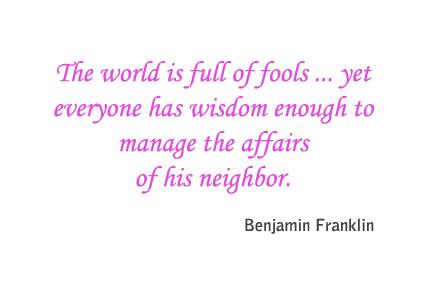 Full of fools