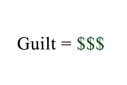 Guilt dollars
