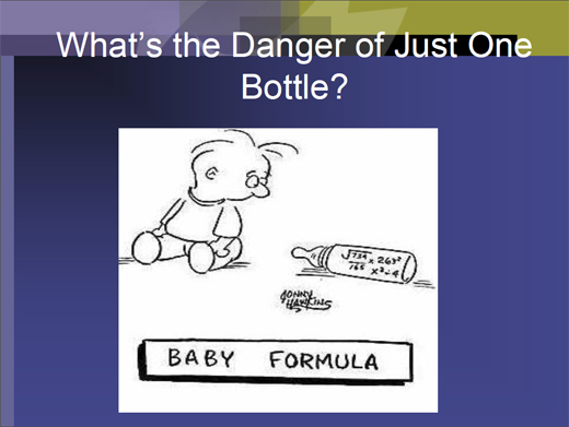 Just one bottle cartoon
