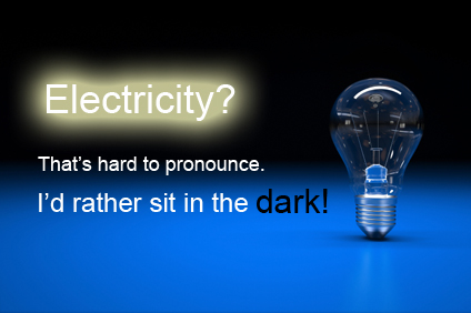 electricity dark