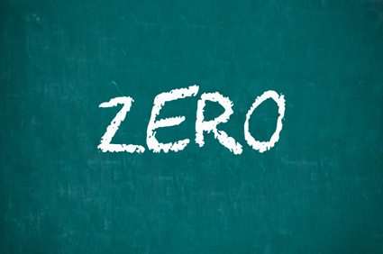 ZERO written on chalkboard