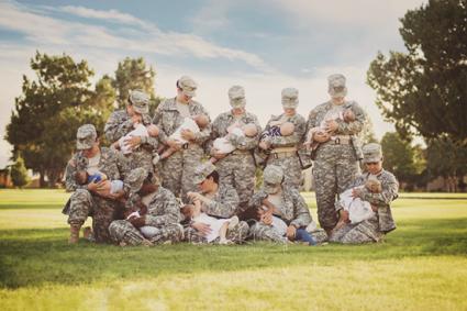 military breastfeeding