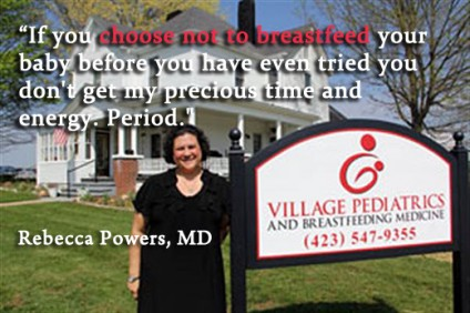 Powers choose not to breastfeed