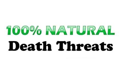Text 100 percent natural with green letters and shadow.