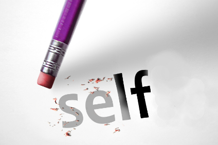 Eraser deleting the word Selfie