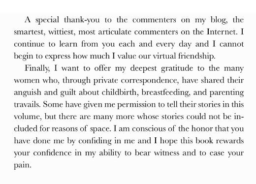 A special thank you to the readers of my blog