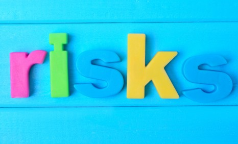 Risks word on table