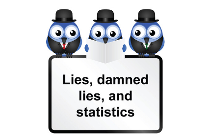 25327384 - lies damned lies and statistics quotation isolated on white background