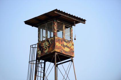 watchtower with soldiers