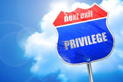 60487050 - privilege, 3d rendering, blue street sign