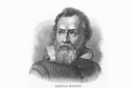 11259841 - galileo galilei - picture from meyers lexicon books written in german language. collection of 21 volumes published between 1905 and 1909.