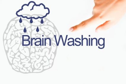 Brain washing concept