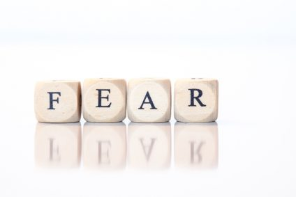 Fear, spelled with dice letters