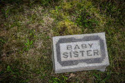 BABY SISTER HEAD STONE, ANONYMOUS