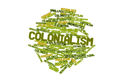 17149617 - abstract word cloud for colonialism with related tags and terms