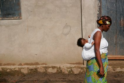 Burundi African woman and child