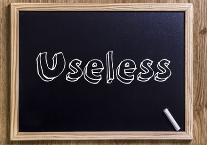 72966006 - useless - new chalkboard with 3d outlined text - on wood