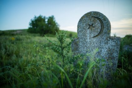 Abandoned Muslim tomb stone