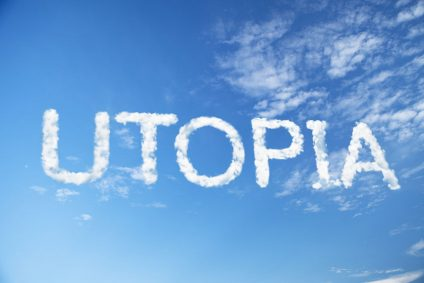 23479931 - utopia cloud word