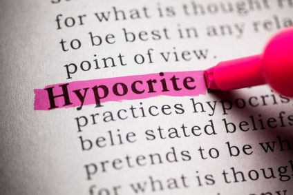 27553912 - fake dictionary, definition of the word hypocrite