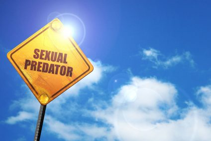 sexual predator, 3D rendering, traffic sign