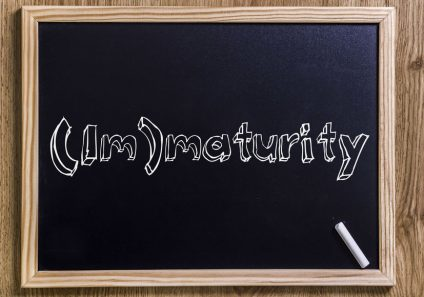 (Im)maturity - New chalkboard with 3D outlined text