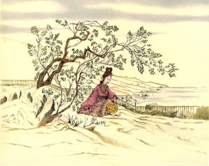 Lady in her garden, from Chinese ornaments 1883