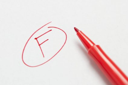 Grade F Letter F